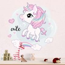Pegatinas de vinilos unicornio infantil