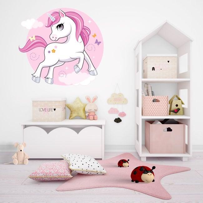 Vinilos decorativos y pegatinas unicornio infantil