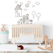 Vinilos decorativos o pegatinas dibujo infantil