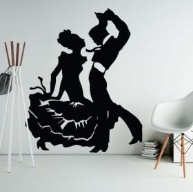 Vinilos decorativos y pegatinas de flamenco