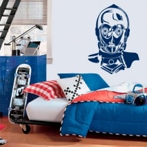 Vinilos decorativos robot c-3po star wars