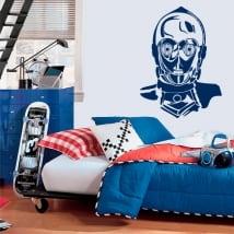 Vinilos decorativos robot c-3po star wars
