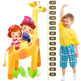 Vinilos y pegatinas medidor jirafa infantil
