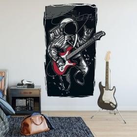 Vinilos y pegatinas astronauta rock and roll