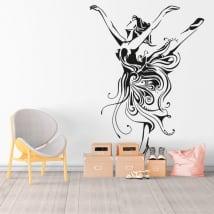 Vinilos y pegatinas silueta mujer bailarina