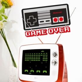 Vinilos y pegatinas videojuegos game over