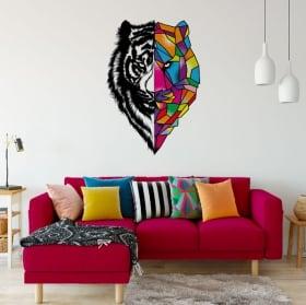 Vinilos y pegatinas tigre triángulos