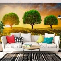 Fotomurales de vinilos árboles en la pradera
