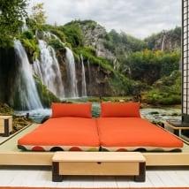 Fotomurales de vinilos paisaje con cascadas