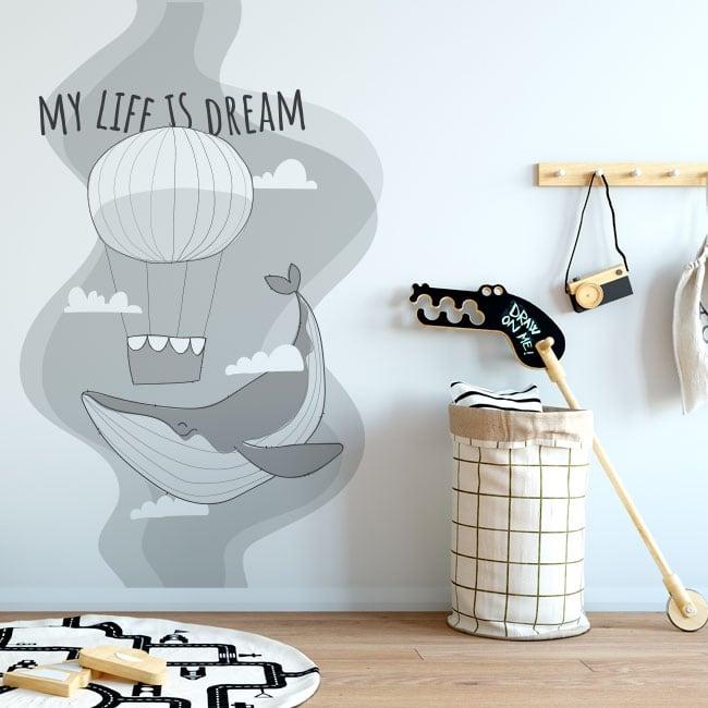 Vinilos y pegatinas frase en inglés my life is dream