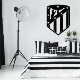 Vinilos y pegatinas de fútbol escudo atlético de madrid