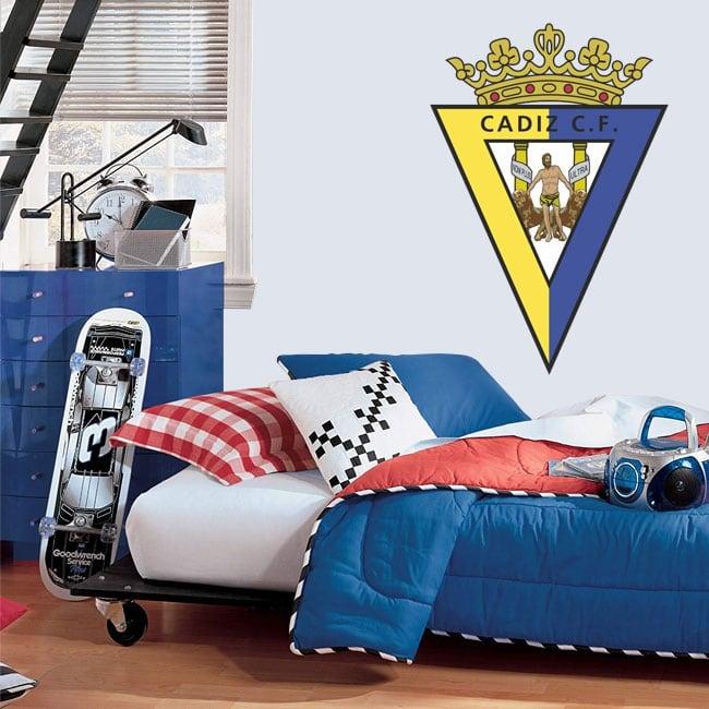 Vinilos y pegatinas escudo cádiz club de fútbol