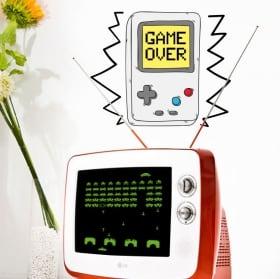 Vinilos decorativos videojuegos game over