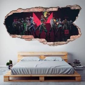 Vinilos decorativos videojuego valorant 3d