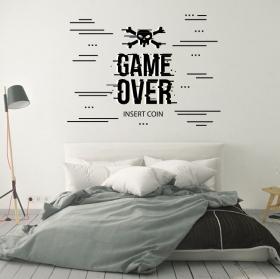 Vinilos videojuegos game over insert coin