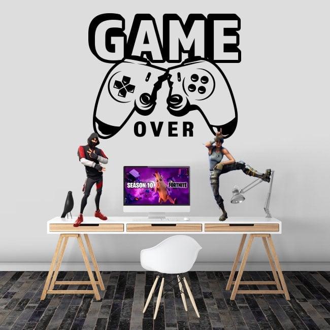 Pegatinas videojuegos game over
