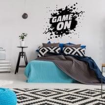 Vinilos decorativos videojuegos game on