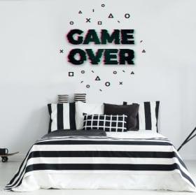 Vinilos decorativos y pegatinas game over