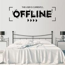 Vinilos decorativos y pegatinas offline