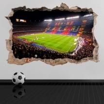 Vinilos y pegatinas 3d estadio de fútbol camp nou barcelona