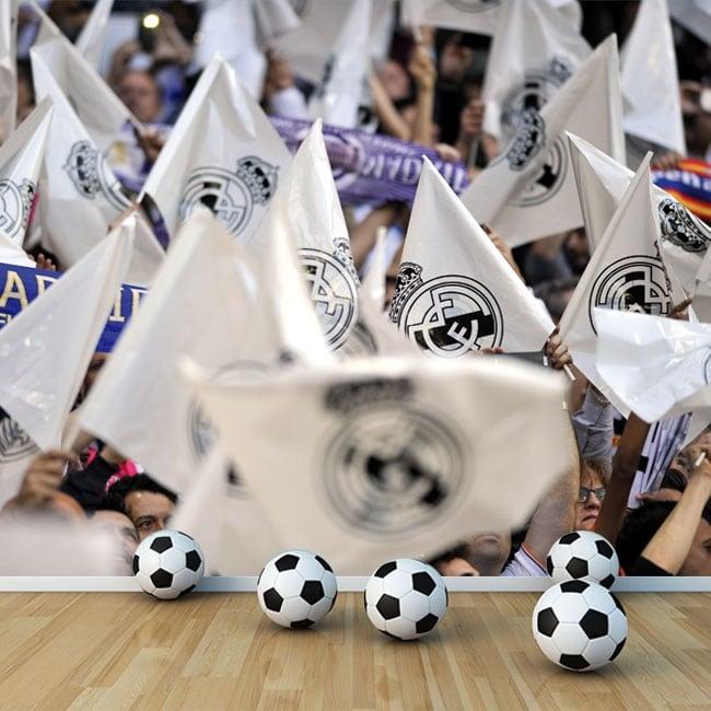 Fotomurales de vinilos banderas real madrid