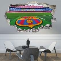 Vinilos 3d estadio de fútbol camp nou