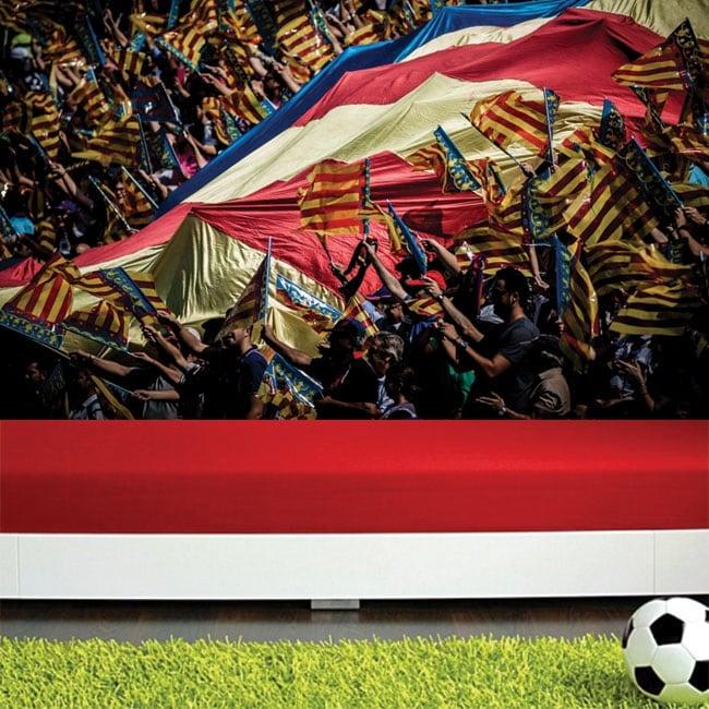Fotomurales estadio de fútbol mestalla valencia cf