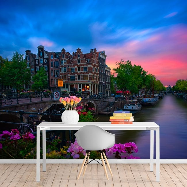 Fotomurales café papeneiland amsterdam