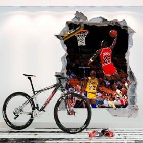 Vinilos 3d basketball michael jordan