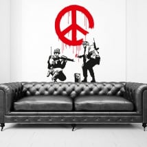 Vinilos y pegatinas grafiti banksy