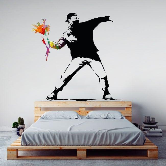 Vinilos decorativos grafiti banksy