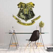 Vinilos harry potter escudo colegio de hogwarts