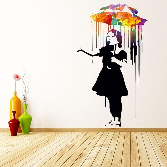 Vinilo decorativo grafiti banksy
