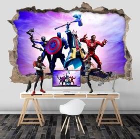 Vinilos 3d videojuego fortnite avengers