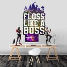 Vinilos fortnite floss like a boss