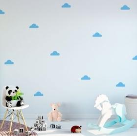 Vinilos y pegatinas infantiles kit de nubes