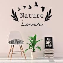 Vinilos y pegatinas frase inglés nature lover