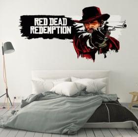 Vinilos y pegatinas videojuego red dead redemption