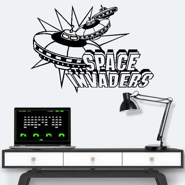 Vinilos y pegatinas videojuegos retro space invaders