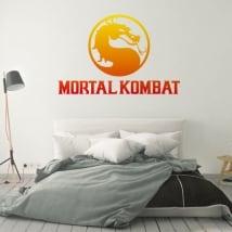 Vinilos y pegatinas videojuego mortal kombat