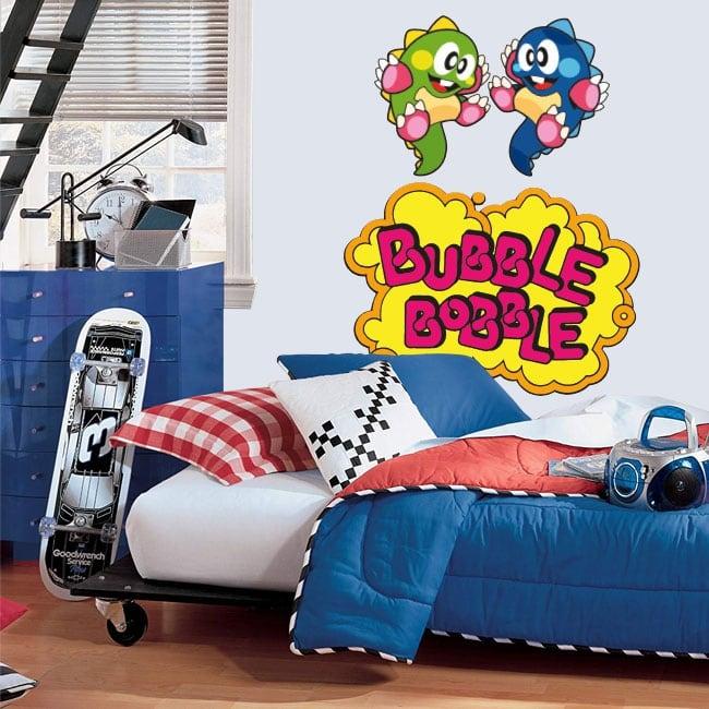 Vinilos y pegatinas videojuego bubble bobble