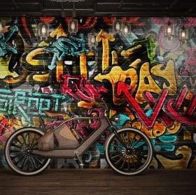 Fotomurales de vinilos grafiti urbano
