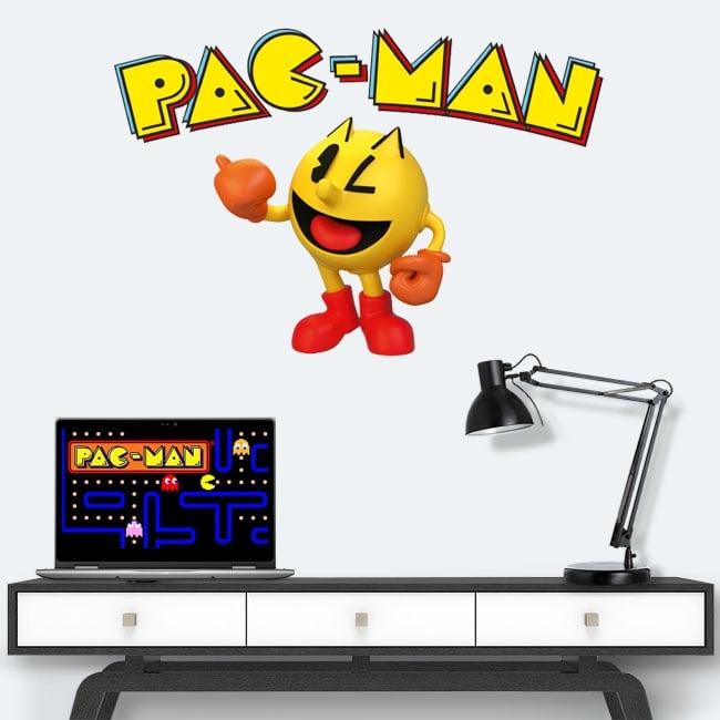Vinilos y pegatinas videojuego retro pac-man