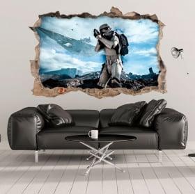 Vinilos y pegatinas 3d stormtrooper star wars