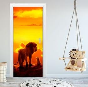 Vinilos para puertas y armarios disney el rey león