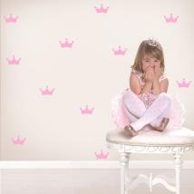 Vinilos y pegatinas infantiles kit coronas de princesas