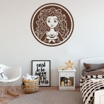 Vinilos decorativos y pegatinas disney brave indomable