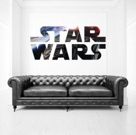 Vinilos decorativos y pegatinas logo star wars