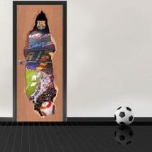 Vinilos para puertas 3d estadio camp nou barcelona
