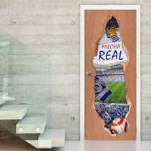 Vinilos puertas 3d real sociedad estadio de fútbol reale arena